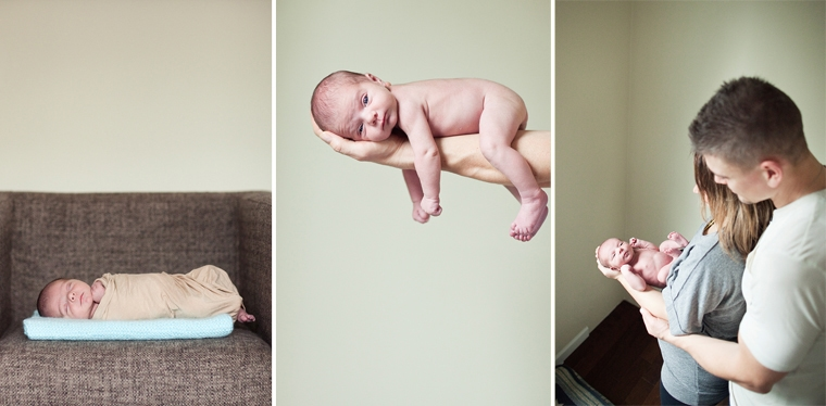 newborn baby in home session