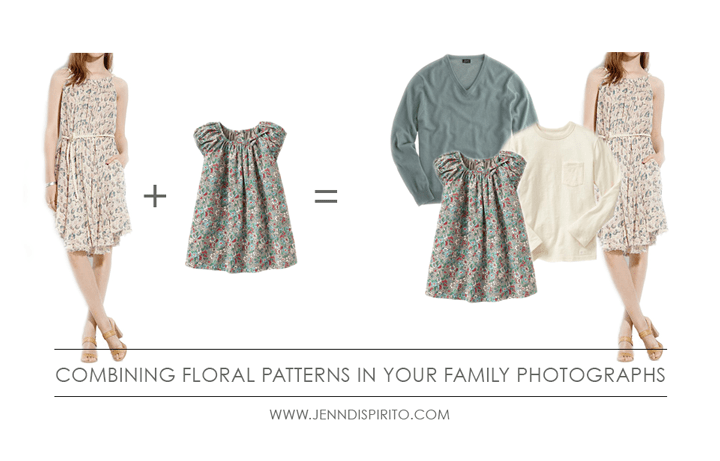 What To Wear In Your Family Photographs | Incorporating Floral Patterns