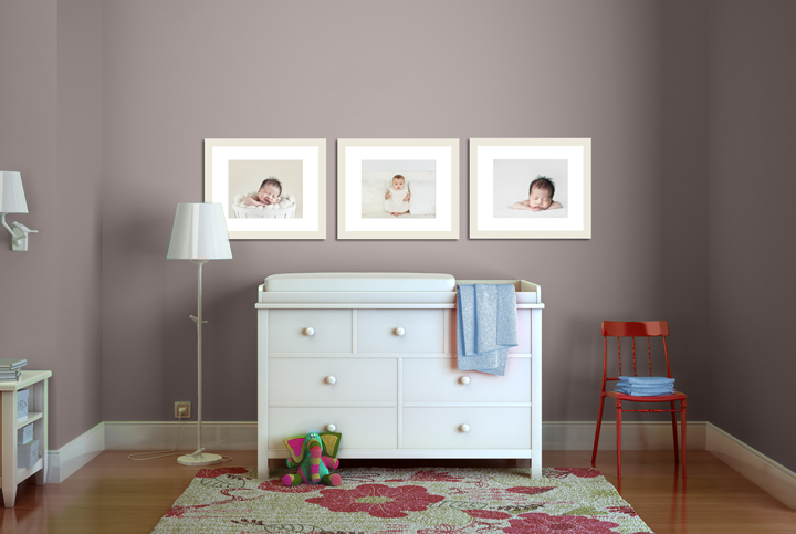nursery wall gallery visual growth chart
