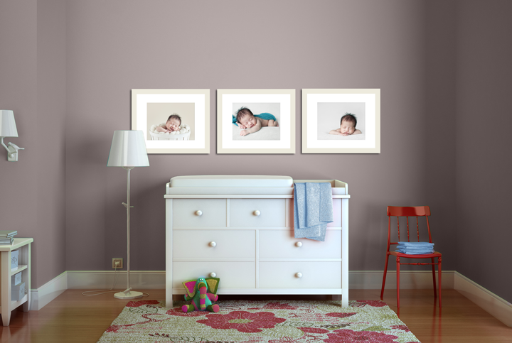 nursery wall gallery visual growth chart newborn
