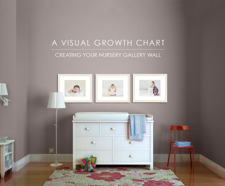 nursery wall gallery visual growth chart