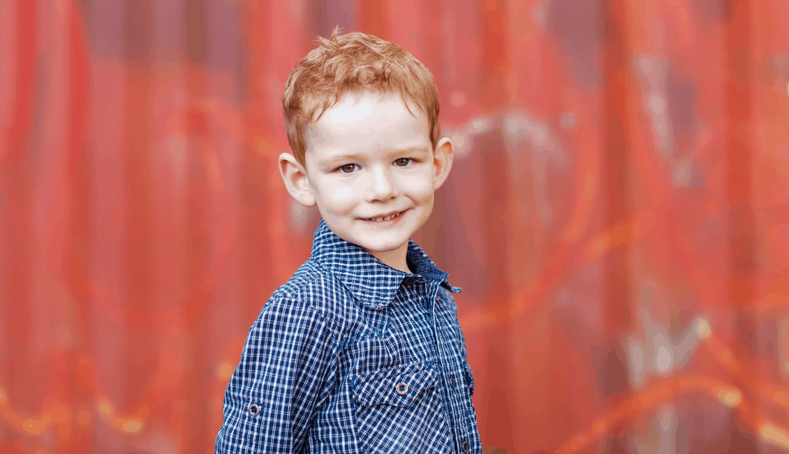 family photos red-head boy urban Vancouver