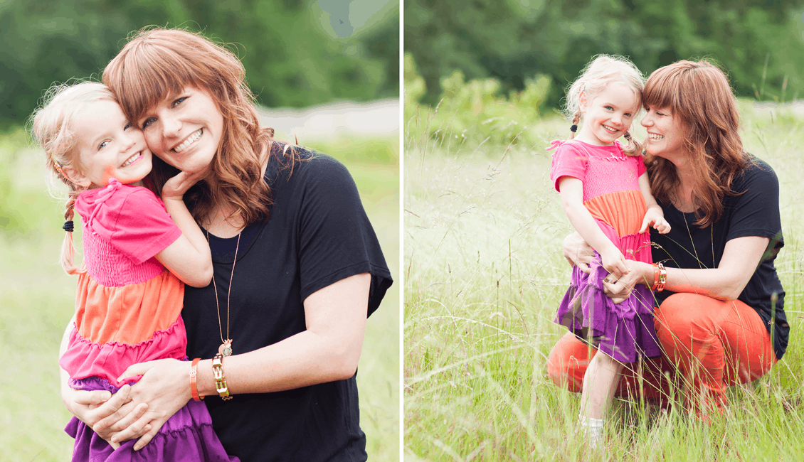 family photos mother and 4 year old girl