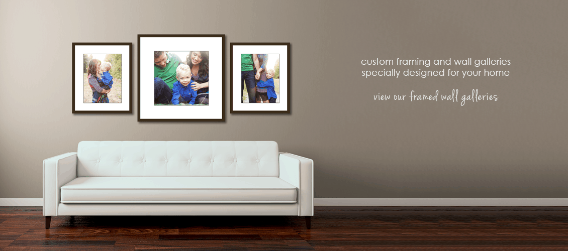 Vancouver family photographer sample wall galleries