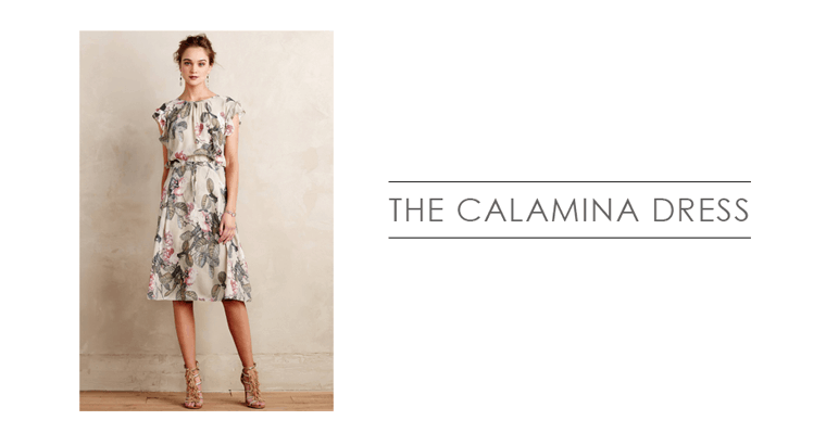 the Calamina dress from Anthropologie | what to wear in family photographs