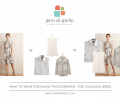 what to wear in family photographs - the Calamina dress