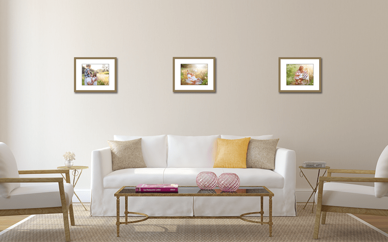 How far apart should I hang my photographs?