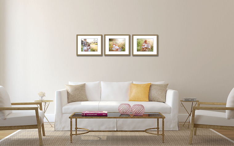 How far apart should I hang my photographs? Good spacing, but too high