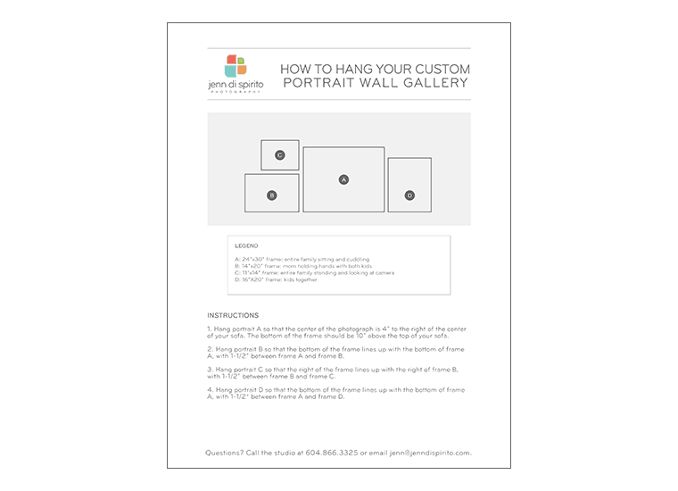 How far apart should I hang my photographs? Here's our client worksheet.