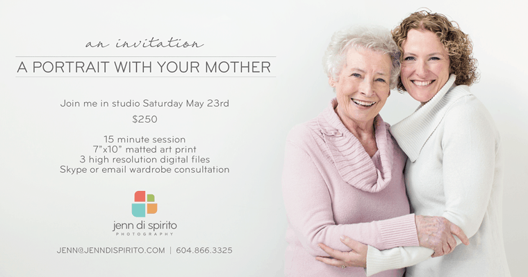 a portrait with your mother | studio event