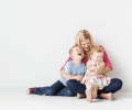 your most beautiful | mom with her two kids in studio | Vancouver family photographer | www.jenndispirito.com
