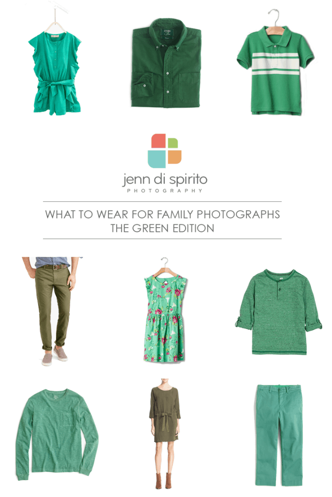 wearing green in family photographs