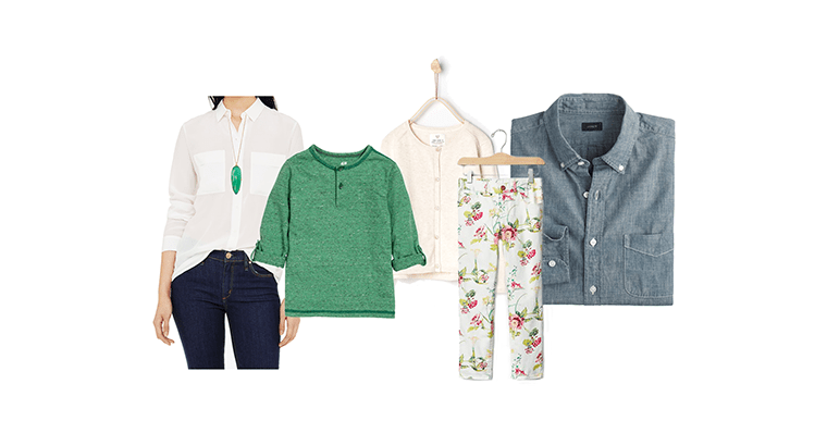 What to Wear for Family Photographs: The Green Edition