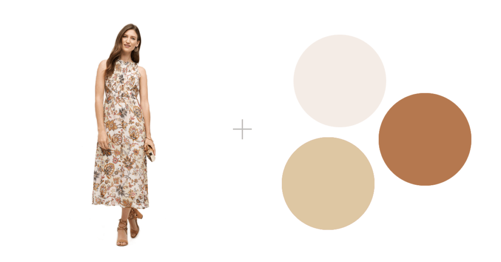 how to wear patterns in family photographs | anthropologie dress