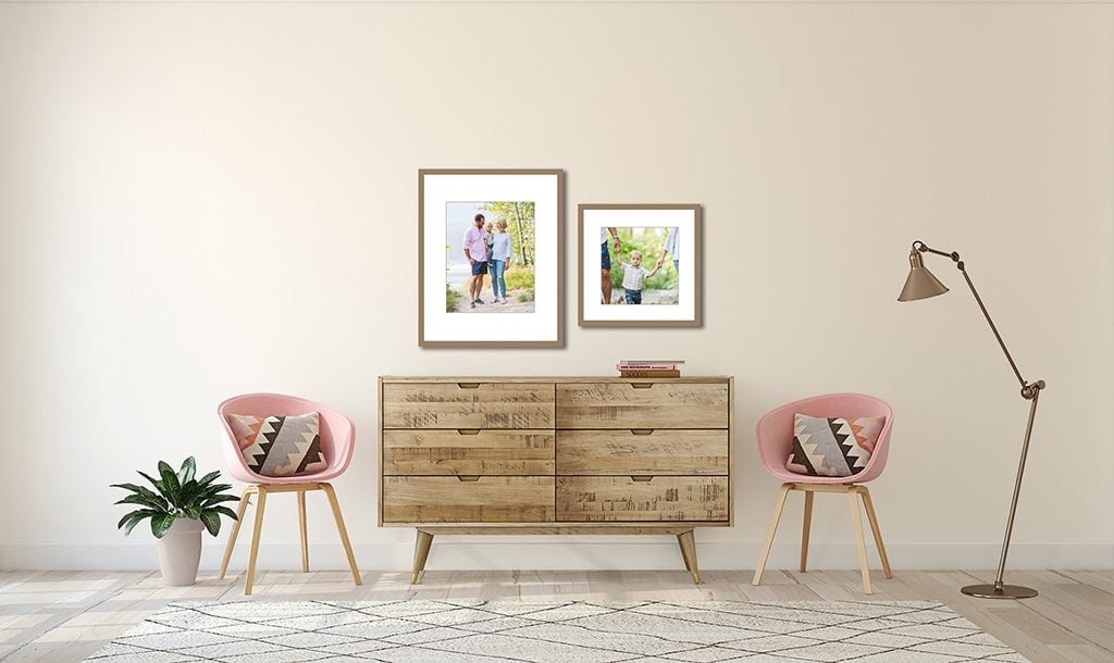 Vancouver family photo wall gallery