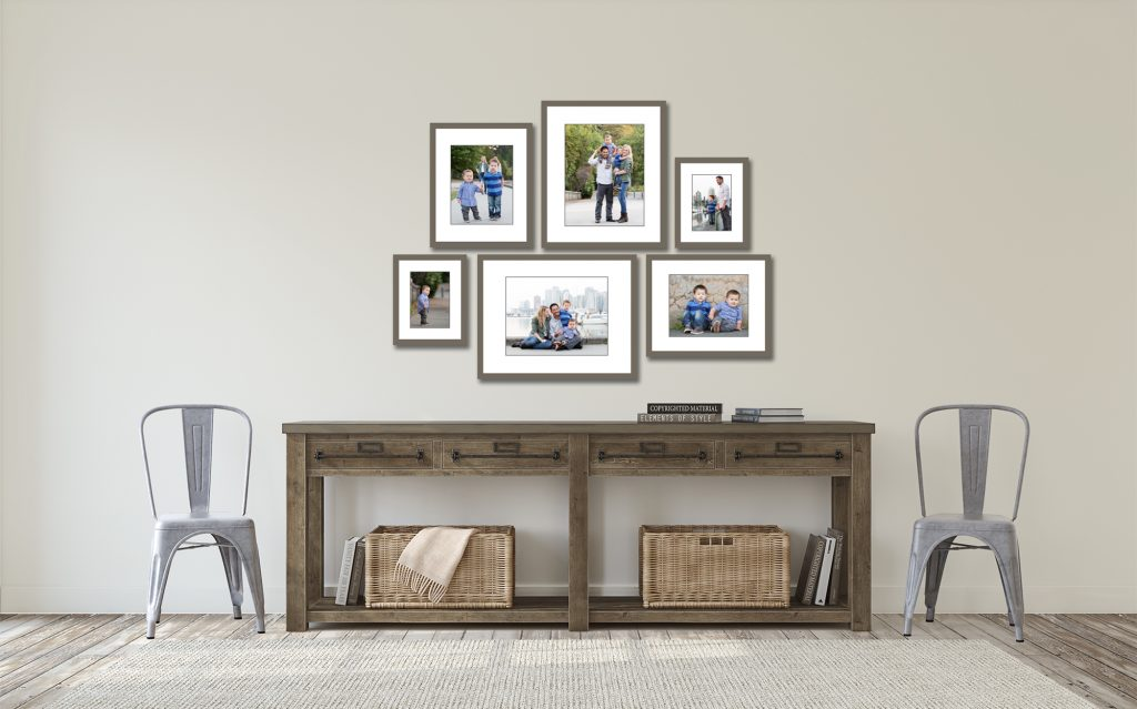 Jenn Di Spirito Photography session pricing   sample wall gallery with 6 frames